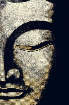 Silent Buddha -  Silence Speaks (Steel canvas by Rosi Lorz)