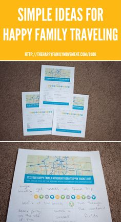 Simple Ideas for Happy Family Traveling – The Road Trip Bucket List