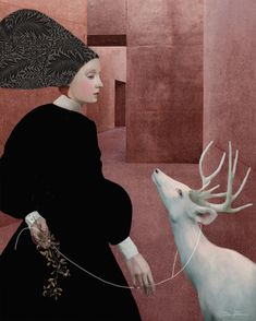 Daria Petrilli -Walking with a white deer