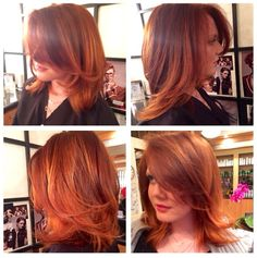 Short red ombré. Gorgeous hair. Cut and color by Blake Anger | Redscarletsalon.com