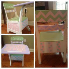 painted child's desk