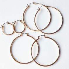 14 KT gold plated hoop earrings.