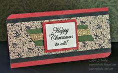 "CTMH Yuletide Christmas card using ""Noel"" stamp set"