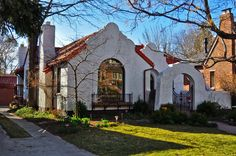 Spanish style homes | Spanish Colonial Revival. A flat-roof style with parapet, a stucco ...Very Nice...