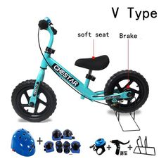 74.20$  Buy now - http://alif4f.worldwells.pw/go.php?t=32590394666 - High Quality CHESTAR 12 Inch Baby Balance Bike Walker, High Carbon Steel Frame And EVA Wheel, SG Certification was approved