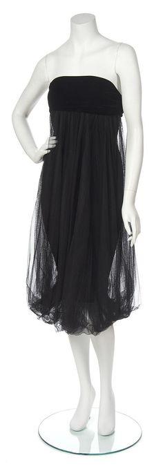Jean Paul Gaultier Black Velvet and Tulle Dress