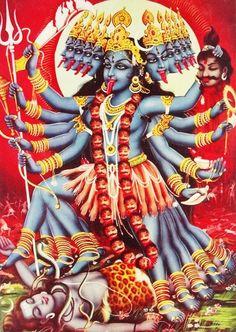 Hindu Kali 11 Art Print by jamesmichals Goddess Kali Images, Maa Kali Images, Durga Images, Kali Goddess, Shiva Hindu, Shiva Shakti, Hindu Art, Kali Mantra, Mother Kali