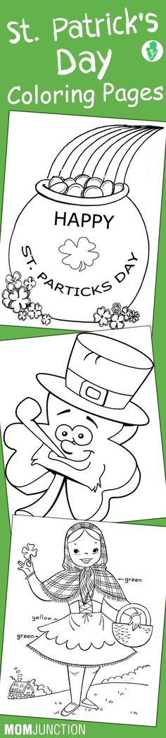 St Patrick\'s Day Picture & Word Tracing Printables | Santa patricia ...