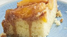 Peaches caramelize with brown sugar in the bottom of your slow cooker for a warm, gooey upside-down cake.