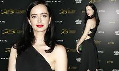 Krysten Ritter stuns in black dress at Peabody Awards panel