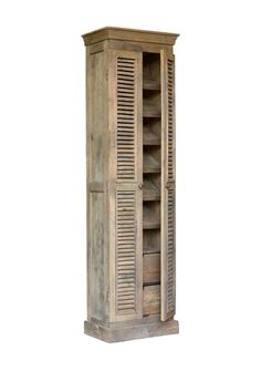 Modern Vintage Style Furniture Reclaimed Shutter Cabinet Shoe Rack - shabby, French, industrial