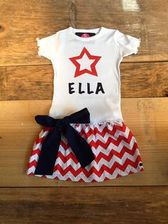 Girls 4th of July personalized patriotic by EverythingSorella, $48.50