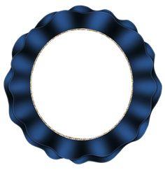 Beautiful Dark Blue Round Frame
