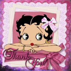 ~~ Thank You ~~~ Betty Boop Blingee by stina scott