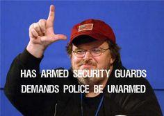 "Michael Moore ""demands"" police be disarmed…"