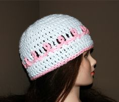 Crochet a Pink Ribbon Cancer Awareness Hat (All Sizes) With Video, http://crochetjewel.com/?p=16667