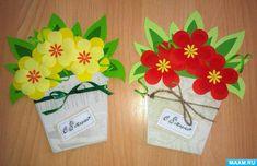 Preschool Crafts, Kids Crafts, Easy Crafts, Diy And Crafts, Paper Crafts, Mothers Day Flower Pot, Mothers Day Crafts, Flower Pot Crafts, Mother's Day Diy