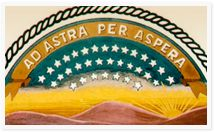 Kansas state motto:  Ad Astra per Aspera (meaning: To the Stars Through Difficulty)