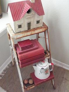 rec collectibles and chippy step ladder