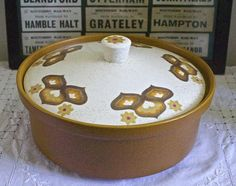 """This vintage casserole dish is in very good condition with no cracks or chips. Beautiful pattern to lid and makers' mark The Royal Worcester Pottery """"Palissy Kalabar"""" on base. Not marked as being oven or dishwasher proof as is a vintage item from Worcester, Beautiful Patterns, Makers Mark, Casserole Dishes, The Hamptons, 1970s, Dishwasher, Vintage Items, Oven"""