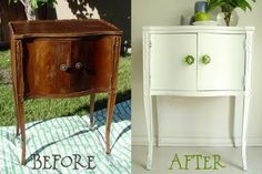 DIY night stand - this is awesome.