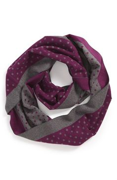 Chelsey Polka Dot Silk Infinity Scarf available at #Nordstrom