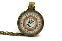 Om Necklace Yoga Jewelry Brass pendant canada by Ahkriti on Etsy, $15.50