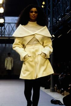 Alaïa famously presented his Fall 1989 show on his own schedule, i.e. when he felt finished, and not according to a calendar date. Click through for more from this collection.