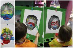 * Foto van het kind op een verfvel afdrukken en...schminken! Easy Art For Kids, Crafts For Kids, Arts And Crafts, Infant Activities, Kindergarten Activities, Carnival Crafts, Circus Theme, School Themes, Simple Art