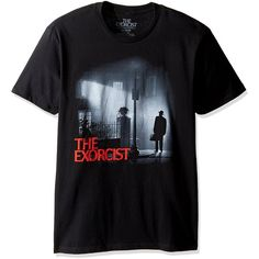 Goodie Two Sleeves Men's the Exorcist Night Watch Adult T-Shirt |... ($9.73) ❤ liked on Polyvore featuring men's fashion, men's clothing, men's shirts, men's t-shirts and mens t shirts