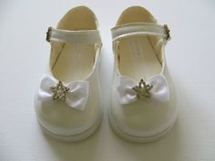 Early Days White Patent Diamante Star & Bow Shoes by Early Days H720 6/12 mths