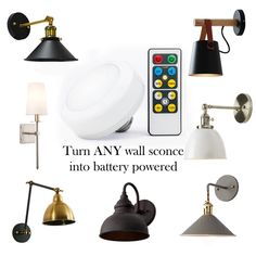 Battery Wall Lights, Battery Lamp, Led Puck Lights, Ceiling Lights, Battery Operated Wall Sconce, Battery Operated Lights, Modern Wall Lights, Modern Lighting, Lighting Ideas