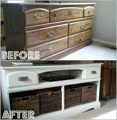 I recently decided to finish up a project I had started a while back- turning an old dresser in to a tv stand for the living room. The dresser was originally cherry, then was spray painted silver, … Tv Furniture, Repurposed Furniture, Furniture Makeover, Furniture Ideas, Furniture Dolly, Repurposed Items, Street Furniture, Tv Stand Makeover, Lamp Makeover