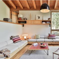 What began as a simple Alpine cabin, in the Bear Creek neighborhood of California's Alpine Meadows Valley, has been given the full… Home Living Room, Living Room Designs, Living Spaces, Home Interior Design, Interior Architecture, Interior Inspiration, Home Goods, Sweet Home, New Homes