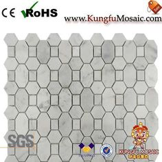 The White Marble Tile Backsplash mainly used for wall. In general, there always can do in rich colors stone. For example, the most popular is the white marble tile backsplash. Marble Tile Backsplash, Stone Mosaic Tile, Marble Mosaic, Mosaic Tiles, Carrara, White Marble, Tile Floor, Texture, Crafts