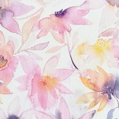 DANCING FLOWERS ❤💜💛#pastelpretty doubletap to share pastel love 😊  .  .  #floral #flowers #prettyinpink #pastelcolors #watercolorflowers #watercolorist #pink #pinkpinkpink #pinkisthenewblack #pinkflowers #softpink #mik #weekend #etsyfinds #etsyseller #homeandaway #painting #goodvibesonly