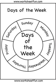 Days of the Week! on Pinterest | Worksheets, Calendar and Learning