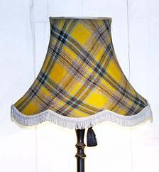 How groovy is this tartan shade lined with pure silk and finished off with a short fringe?