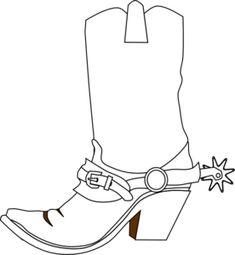 Cowboy Boot clip art - vector clip art online, royalty free ...
