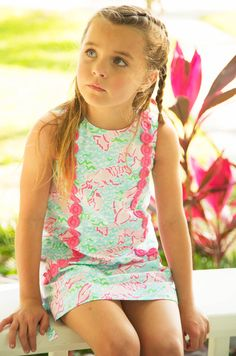 Lilly Pulitzer Little Lilly Classic Shift Dress in Lobstah Roll is too cute to handle! Little Girl Models, Little Girl Outfits, Little Girls, Preppy Kids, Cute Young Girl, Future Daughter, Beautiful Children, Sweet Girls, Cute Kids