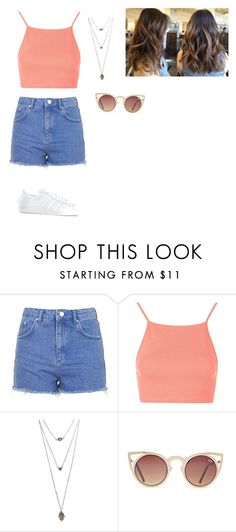 """""""Unbenannt #69"""" by slnaorhn ❤ liked on Polyvore featuring Topshop, Wet Seal and adidas"""