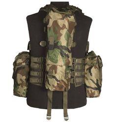 Mil-Tec Einsatzweste Tactical, 12-Taschen, woodland / mehr Infos auf: www.Guntia-Militaria-Shop.de