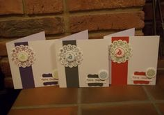 Stamped and punched christmas cards range of colours (four seasons hostess set)