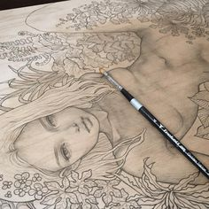 "Sneak peek at Audrey Kawasaki's piece for our September group show ""Suggestivism: Resonance"" curated by Nathan Spoor."
