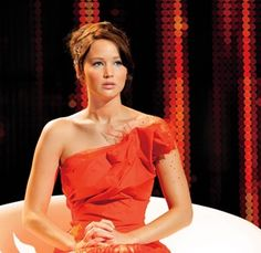 Katniss' Fire Dress - well if I loved the girl with the dragon tattoo, I LOVED the hunger games and read all the books. really loved the characters and thats what draws me in to a book.