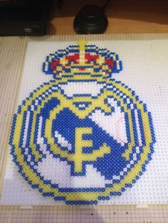 escudo del real madrid 3D hama beads