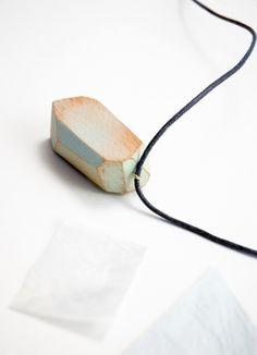 Wooden Necklace : StudioFludd : $24