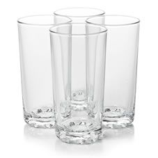 Wilko Everyday Value Hi-ball Glasses x 4 - £1 for 4 glasses - to use with contact paper stencil and glass etching paste!
