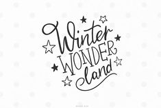 Hand-drawn Winter wonderland christmas quote SVG cut file - This is an instant download of a digital file which can be used as a cutting file. You can use it for making tumblers, mugs, cards, planner stickers, totes, decals, T-shirts, rompers, scrapbooking or even use as photo overlays on social