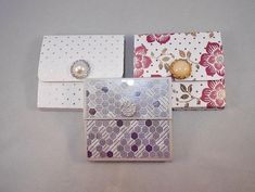 3 Sticky Pad Holders, Mini Sticky Notepads, Note Holder Set, Co-Worker Gift, Teacher Gift, Purse Notepad, Decorative Notepad, Party Favors by myprettypapercrafts. Explore more products on http://myprettypapercrafts.etsy.com